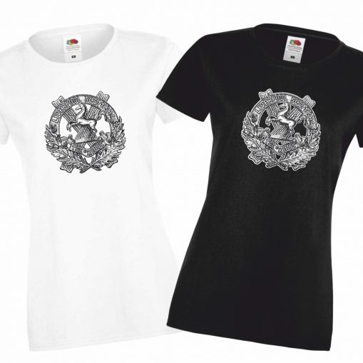 Ladies' T-shirts Black & White - 10th King's
