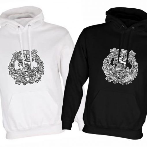 Unisex Hoodie - Black & White - 10th King's