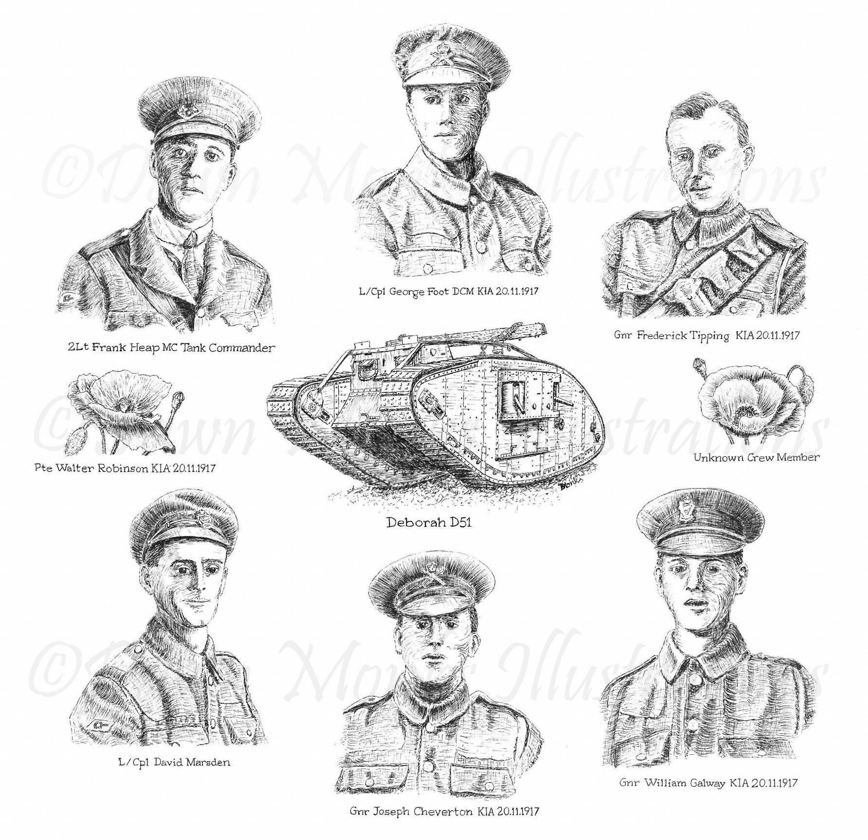 Tank Crew - Deborah D51 - WW1