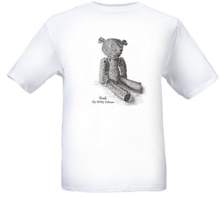 Men's White T-shirt – Fredo the WW2 Talisman Teddy Bear