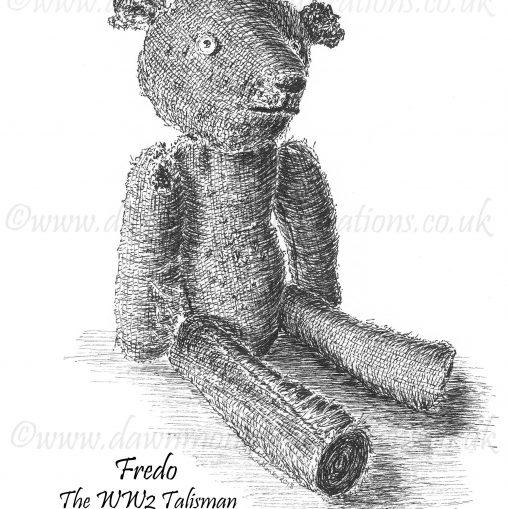 T-shirt Design – Fredo the WW2 Talisman Teddy Bear