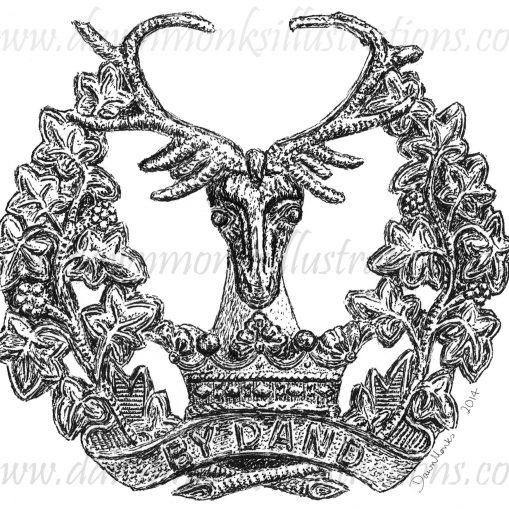 Gordon Highlanders Cap Badge - WW1