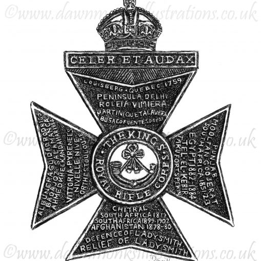 King's Royal Rifle Corps Cap Badge - WW1