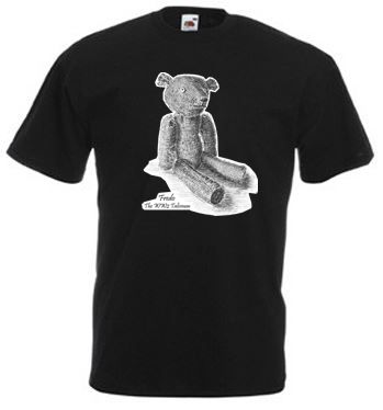 Men's Black T-shirt – Fredo the WW2 Talisman Teddy Bear