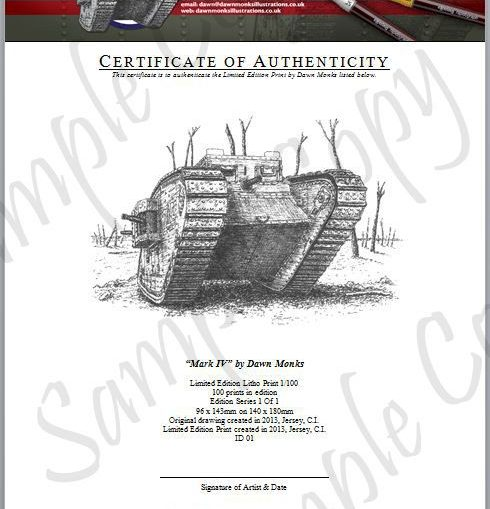 MkIV Limited Edition Certificate of Authenticity