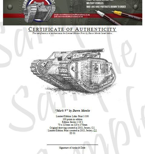 MkV Limited Edition Certificate of Authenticity