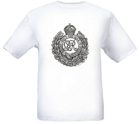 Men's White T-shirt - Royal Engineers Cap Badge - Bellewaarde - WW1