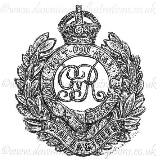 Royal Engineers Cap Badge - WW1