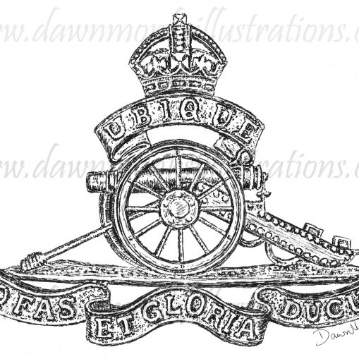 T-shirt Design - Royal Field Artillery Cap Badge - WW1