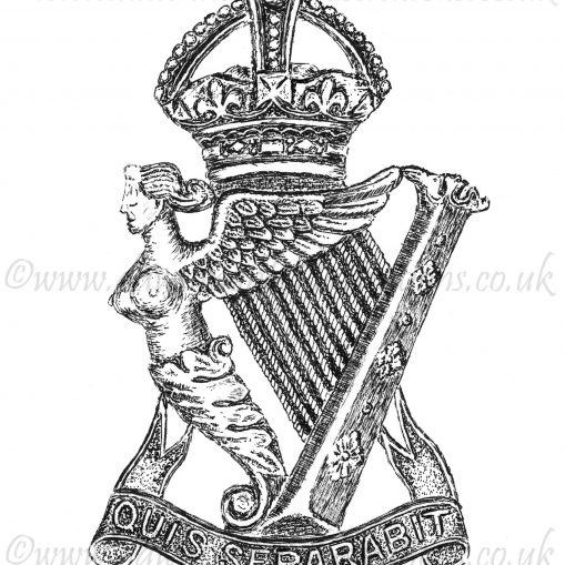 Royal Irish Rifles Cap Badge - WW1
