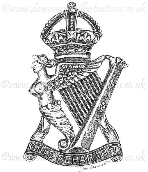 Royal Irish Rifles Cap Badge - WW1