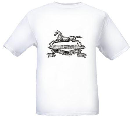 Men's White T-shirt - West Yorkshire Regiment Cap Badge - Bellewaarde - WW1