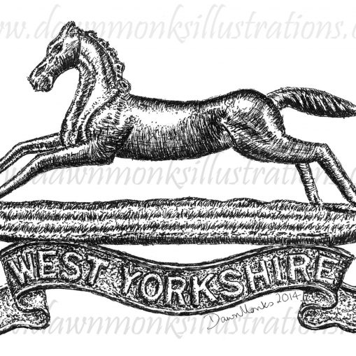West Yorkshire Regiment Cap Badge - WW1