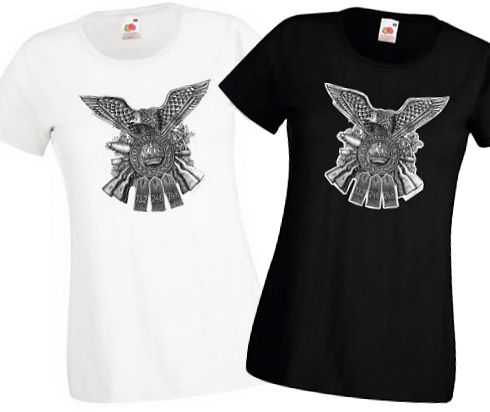 Ladies' German Regiments - Black & White T-shirts - Bellewaarde WW1