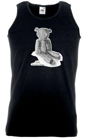 Men's Black Vest – Fredo the WW2 Talisman Teddy Bear