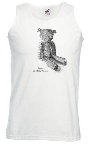 Men's White Vest – Fredo the WW2 Talisman Teddy Bear
