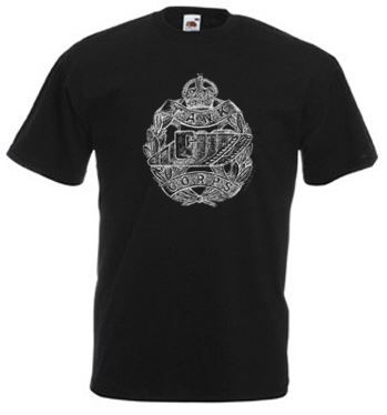 Men's Black T-Shirt – Tank Corps Cap Badge – WW1