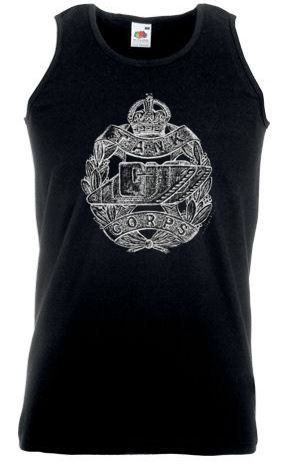 Men's Black Vest – Tank Corps Cap Badge – WW1