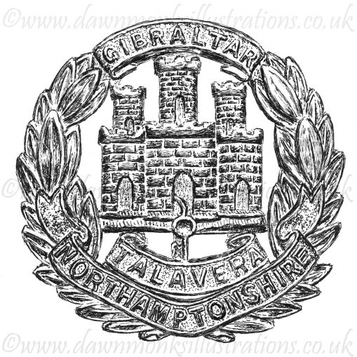 Northamptonshire Regiment Cap Badge - WW1
