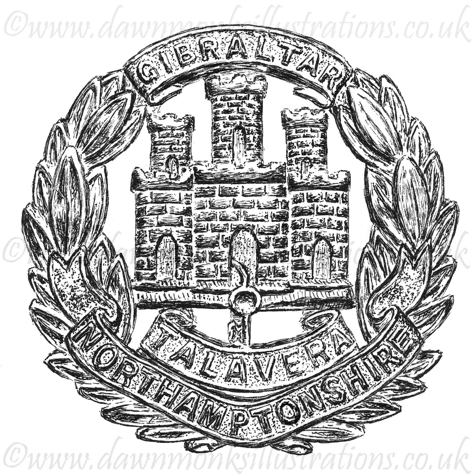 Northamptonshire Regiment WW1/WW2 Cap Badge Design - Baseball Cap
