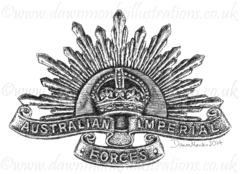 Australian Imperial Forces Ww1 Headstone Design Baseball