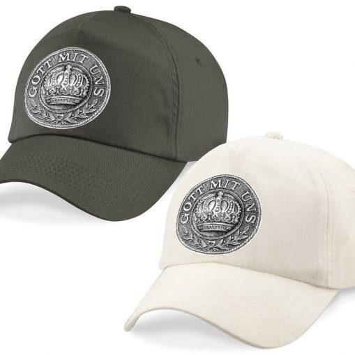 Baseball Caps - Desert Sand/Khaki – Gott mit Uns WW1 Prussian Belt Buckle Design
