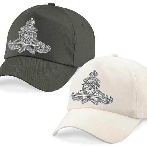 Baseball Caps - Desert Sand/Khaki – Royal Artillery Cap Badge - WW1