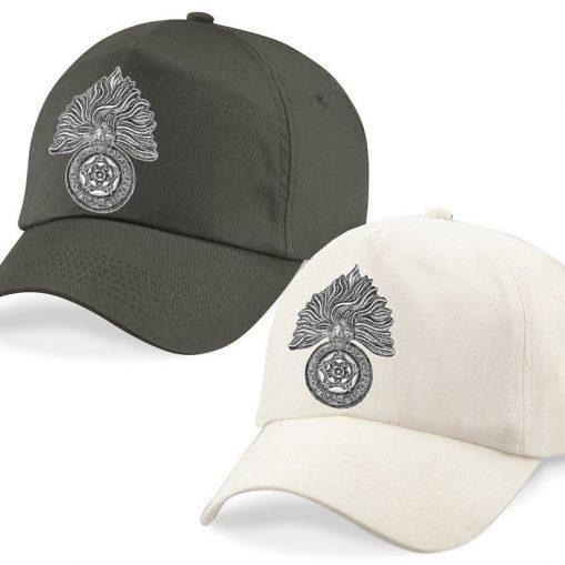 Baseball Caps - Desert Sand/Khaki – Royal Fusiliers Cap Badge - WW1