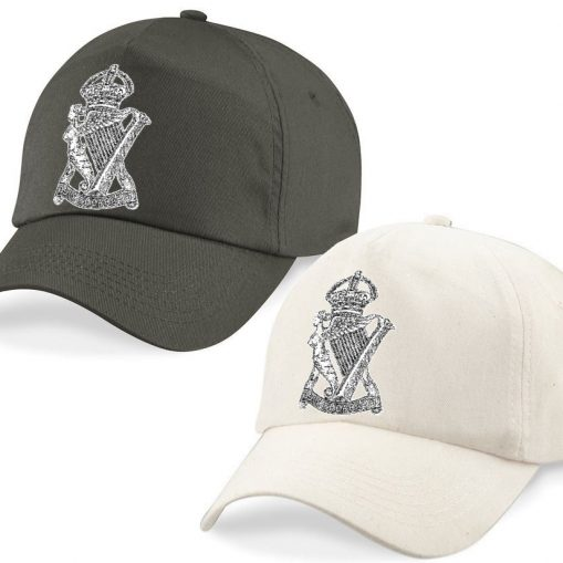 Baseball Caps - Desert Sand/Khaki – Royal Irish Rifles Cap Badge - WW1