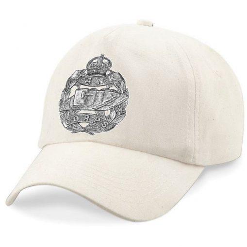 Baseball Cap - Desert Sand – Tank Corps Cap Badge - WW1