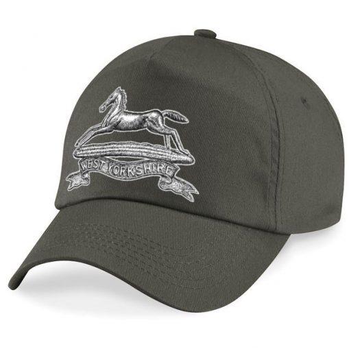 Baseball Cap - Khaki – West Yorkshire Regiment - WW1 Cap Badge Design