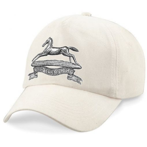 Baseball Cap - Desert Sand – West Yorkshire Regiment - WW1 Cap Badge Design