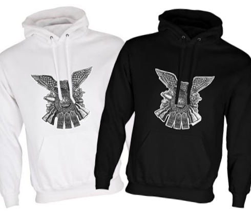 Unisex Black/White Hoodies (Front Printed) - German Regiments Design - WW1