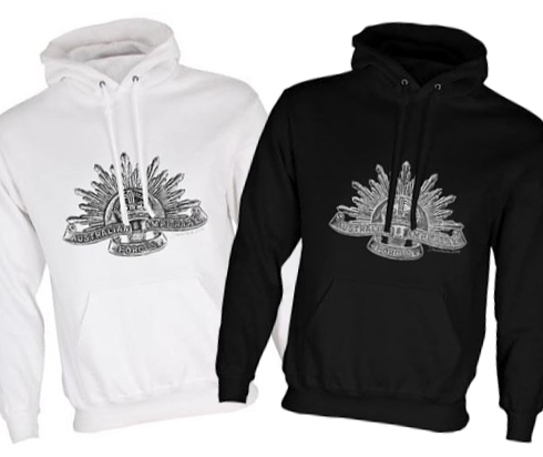 Unisex Black/White Hoodies (Front Printed) - Australian Imperial Forces - WW1
