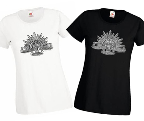 Ladies' Black & White T-shirts - Australian Imperial Forces - WW1