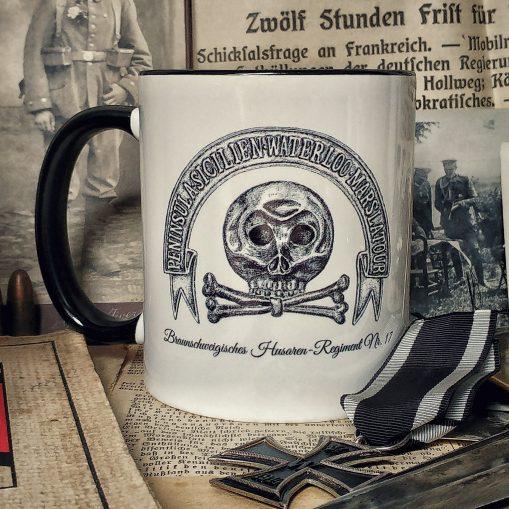 Brunswick Hussars Skull & Battle Honours - Stoneware Mug