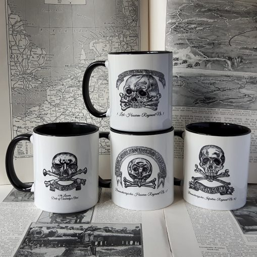 Set of 4 Skull Insignia Mugs