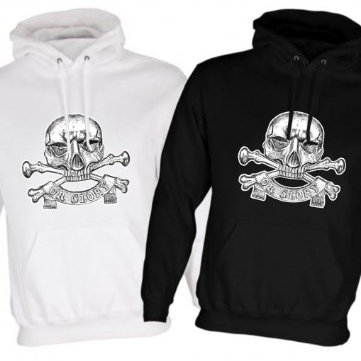Unisex Black/White Hoodies (Front Printed) - 17th Lancers