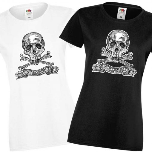 Ladies' Black & White T-shirts - Brunswick Inf Reg 92