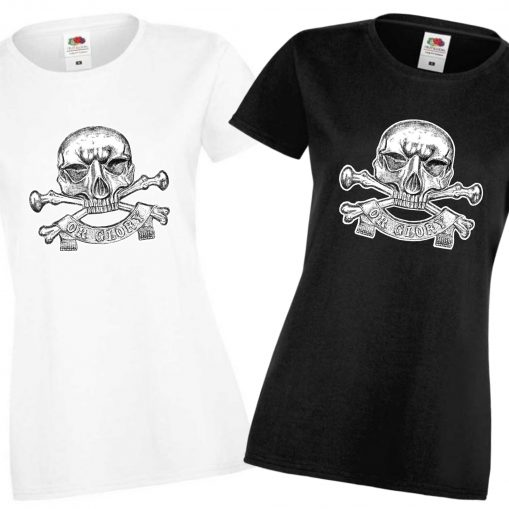 Ladies' Black & White T-shirts - 17th Lancers