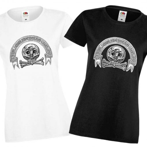 Ladies' Black & White T-shirts - Brunswick Hussars