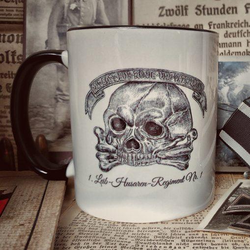 Lieb Husaren/Life Hussars Skull Insignia & Battle Honours - Stoneware Mug