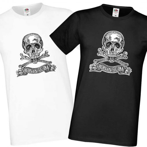 Men's Black & White T-shirts - Brunswick Inf Reg 92