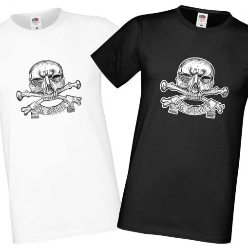 Men's Black & White T-shirts - 17th Lancers