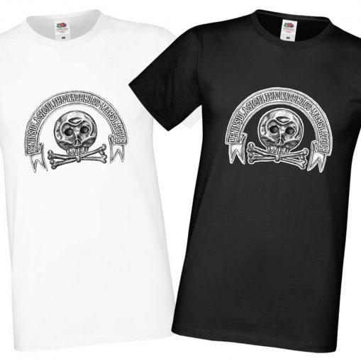 Men's Black & White T-shirts - Brunswick Hussars