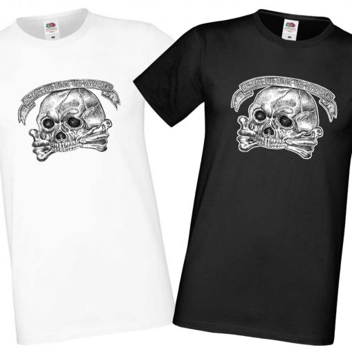Men's Black & White T-shirts - Life Hussars/Leib Husaren