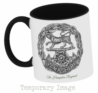 Hampshire Regiment Stoneware Mug - Temporary Image