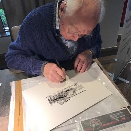 Ludwig Bauer signing print