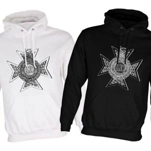 Unisex Hoodie - Black & White - Light Dragoons