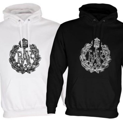 Unisex Hoodie Black & White - Royal Air Force - WW2
